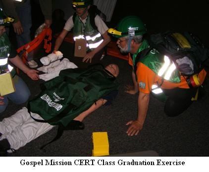 Gospel Mission CERT Class Graduation Exercise