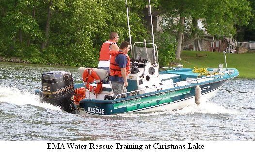 EMA Water Rescue Training at Christmas Lake